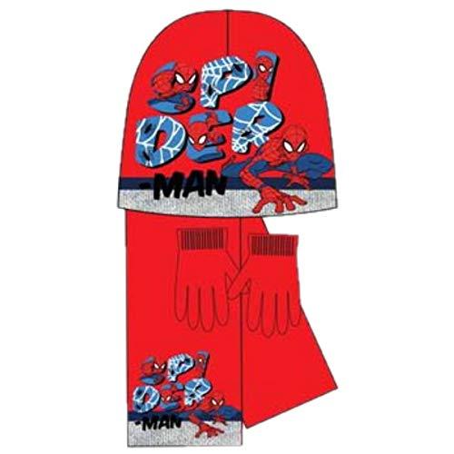Spiderman - Coordinato Invernali - Ragazzo Rosso e Blu Taglia Unica
