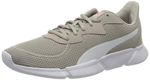 PUMA Unisex INTERFLEX Runner Sneaker, Silver Cloud White-Ignite Pink, 37 EU