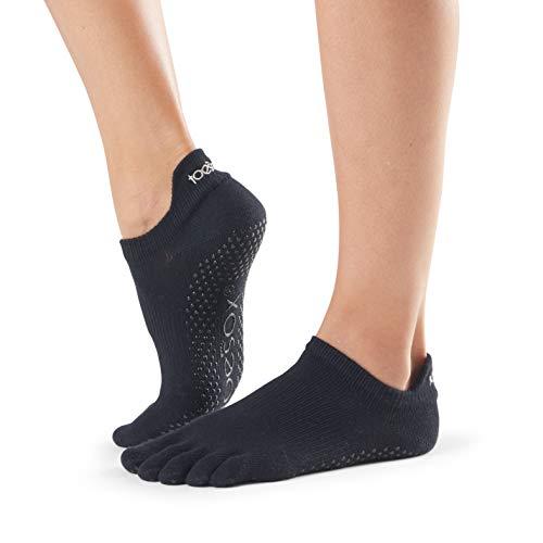 Toesox Full Toe Low Rise Calcetines de Yoga, Unisex Adulto, Negro, M