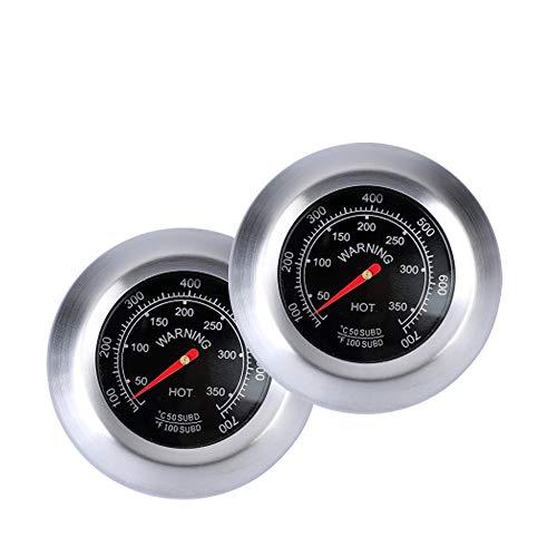Termómetro de Parrilla de Barbacoa,2pcs Termómetro para Todas Las Barbacoas, Medidor de Termómetr de Barbacoa, BBQ Termómetro, Inoxidable Medidor de Temperatura de Barbacoa Horno
