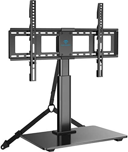 PERLESMITH Swivel TV Stand Universal Table Top TV Base for 32 to 65 inch LCD LED OLED 4K Flat product image