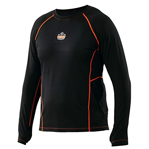 Ergodyne CORE werkkleding 6435 Thermal Base Layer Shirt, Zwart, Medium