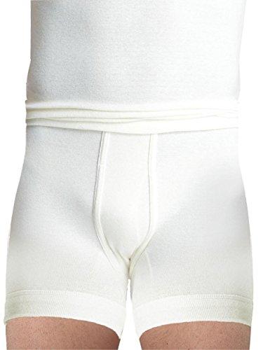 Susa Herren Funktionsunterwäsche Angora Unterhose (kurz) s8010030, Einfarbig, Gr. XX-Large, weiß (wollweiß s122)
