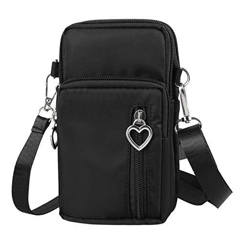 EEEKit Mini Cross-Body Handytasche Schultergurt Brieftasche Tasche Tasche Geldbörse - für die meisten Smartphones bis zu 6,5 Zoll