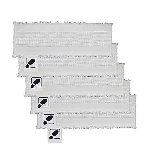 DEYF 5 hochwertiges Mikrofasertuch Set EasyFix Bodentücher für Kärcher Dampfreiniger SC2, SC 3, SC4, SC5 Bodendüse 3.8€/Stück