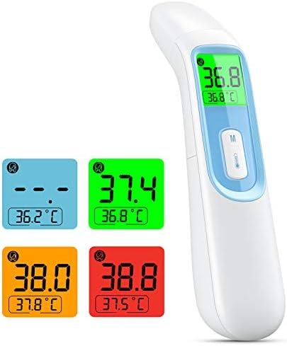 Termometro Infrarrojos 4 en 1 termometro digital corporal medico con alarma y función sin contacto para adultos y niños