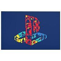 FUNKY PLAYSTATION LOGO 足ふき マット 玄関マット 速乾 吸水性 滑り止め 洗濯機 キッチン 浴室 洗面所 付 防ダ デオドラント ファッションマット 長方形23.6x15.7in