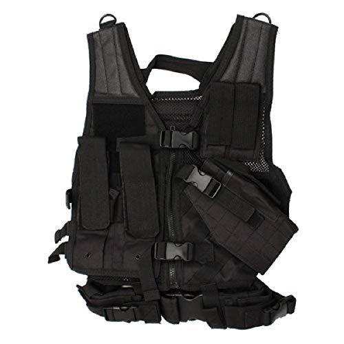 Nc Star Children's Vest, Black, Small