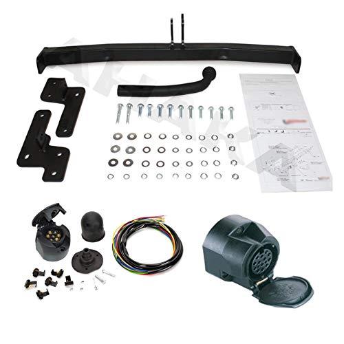 ATTELAGE avec faisceau 13 broches | Volvo S40 Berline / V40 Break de 1995 à 2000 / crochet «col de cygne» démontable avec outils