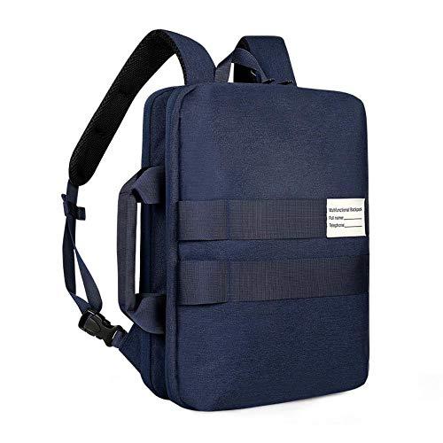 3多機能ショルダーバッグとラップトップバッグバックパック,青い,17.3インチ