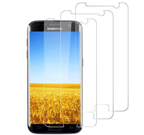 Verre Trempé pour Samsung S7, Protecteur d'écran en Verre trempé [Dureté 9H][Anti-Rayures][sans Bulle d'air][Anti-Huile][Anti-Empreintes] pour Samsung Galaxy S7-[3 Pièces]