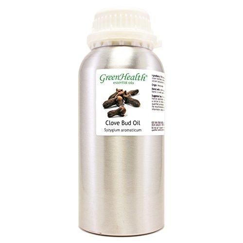 Clove Bud – 16 fl oz (473 ml) Aluminum Bottle w/Plug Cap – 100% Pure Essential Oil – GreenHealth