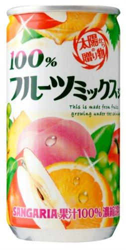 100%フルーツミックスジュース 190g×30本 缶