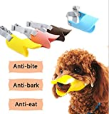 Fashion 1989 Pet Dog Muzzle Mask Silicone Moderate Hardness Duckbill Muzzle for Dog Puppy 4Colors 4Sizes (L 1brown)