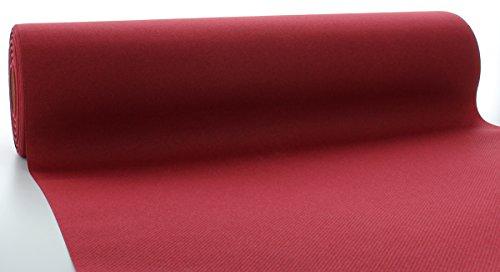 Sovie HORECA Linclass® Airlaid Tischläufer 40 cm x 24 m | Tischdecken-Rolle stoffähnlich | praktische Einmal-Tischdecke für Hochzeit oder Partys | Bordeaux-Rot