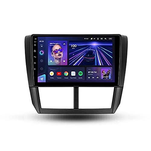 9'' Android 10 Autoradio Für Subaru Impreza 2007-2011,Mit Unterstützt Carplay/BT/Rückfahrkamera/Lenkradsteuerung/MirrorLink/4GLTE+5GWIFI/3D Echtzeit-Fahrdynamik/Neue Benutzeroberfläche,Cc3,3+32G