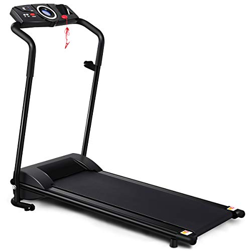 Best Review Of GYMAX Folding Electric Portable Treadmill Low Noise Jogging Walking Running Machine E...