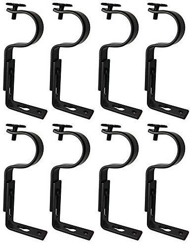 TEJATAN Small Curtain Bracket (Set of 8, Black)