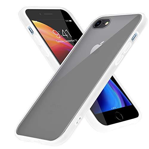 Cadorabo Funda Compatible con Apple iPhone 6/6S 7/7S 8/8S en Mate Transparente - Funda para teléfono móvil con Interior de Silicona TPU y Parte Trasera de plástico Mate