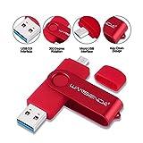 WANSENDA Memoria USB 3.0 Pendrive Flash Drive Dual Drive OTG Memoria Stick 256GB 128GB 64GB 32GB 16GB Pen Drive Almacenamiento Externo para Dispositivos Android/PC/Tablet