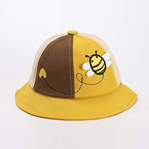 Sombrero de Pescador para niños otoño e Invierno algodón Puro Grueso abejita Color a Juego Lindo Sombrero de Olla para bebé para Mantener Caliente el Sombrero de los niños Coreanos