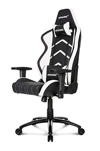 AKRacing Player Gaming Chair, Acciaio, Nero/Bianco