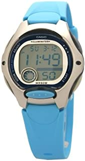Casio LW-200-2B Silver & Blue Classic Women's or Children's 50m Casual Digital Sports Watch