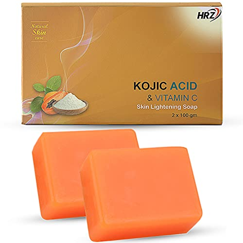 Kojic Acid and Vitamin C Skin lightening Soap for Face and Body wash (Remarkably Big 3.5 Oz / Bars),...