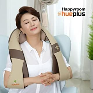Happyroom Hueplus Shiatsu Neck Shoulder Massager HPM-200 with Heat for Car Home Office 2014 New model Speed Control (Brown) by Hueplus