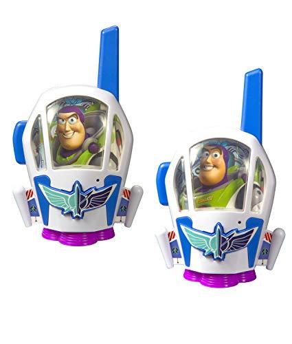 Toy Story 4 Walkie Talkies Buzz Lightyear para niños, 2 vías, Azul/Verde