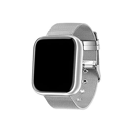 FeelMeet Reloj Elegante Y68 Fitness Sport SmartWatch y Tiras de Acero Control de Actividad con la presión del Ritmo cardíaco Deportes Sangre Hombres Mujeres Astilla