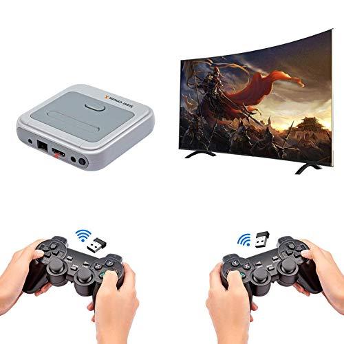 ALLWIN Consola De Videojuegos Super Console X Pro Incorporada En Más De 33000 Juegos,con 2 Gamepads,Consolas De Juegos para TV 4K Compatible con Salida HDMI/AV,Compatible con 5 Jugadores