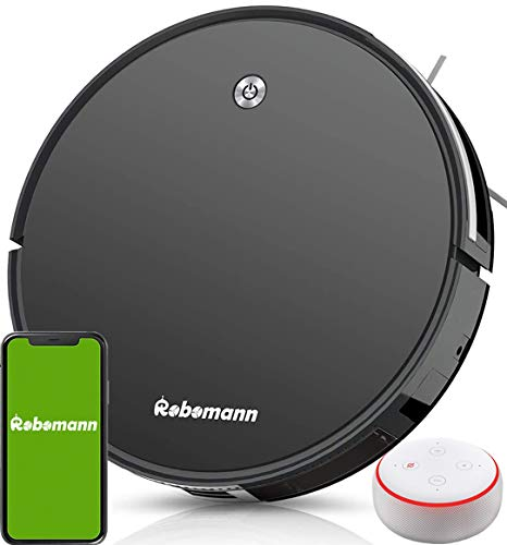 Robot Vacuum and Mop, Automatic Smart Sweeping & Mopping Robotic Vacuum Cleaner, 2000Pa Suction, Self Charging, Daily Schedule Cleaning, GYRO Navigation, 60db Quiet, Remote-APP-Alexa Control