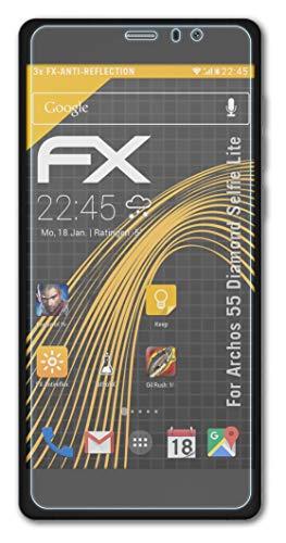 atFolix Panzerfolie kompatibel mit Archos 55 Diamond Selfie Lite Schutzfolie, entspiegelnde & stoßdämpfende FX Folie (3X)