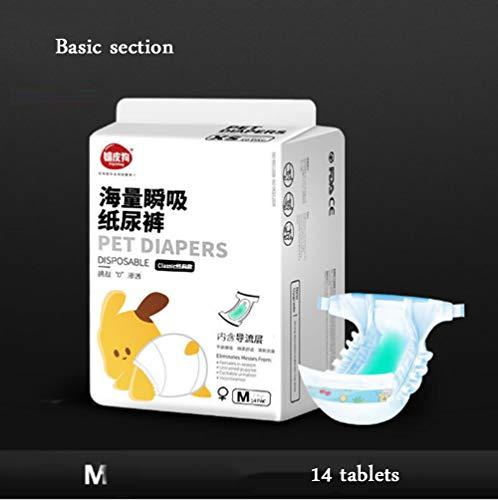 Xihaoer Hond Menstrual Luier Wegwerp Vrouwelijke Wraps Menstruatie Pads Papier Luiers Puppy Shorts Ondergoed Panty, M