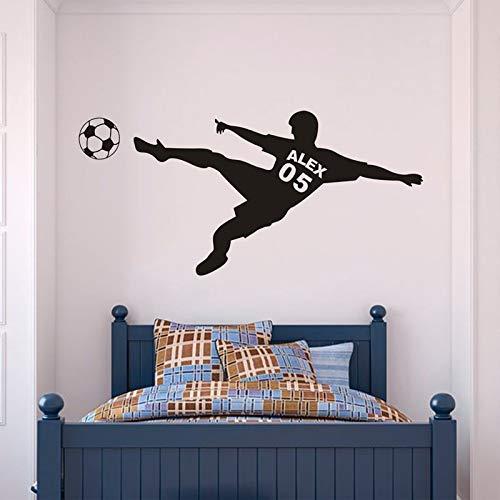 XCSJX Nombre del niño Etiqueta de la Pared Pedal Vinilo decalización decoración del Dormitorio del niño habitación Adolescente Mural de Arte Familiar 43x95 cm