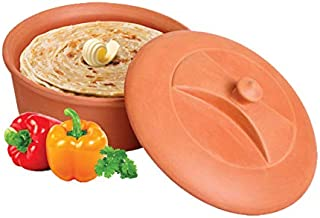 MBC Earthenware Healthcare Clay Chapati Box 1.5LT(Cassrole) (Pack of 1) Brown
