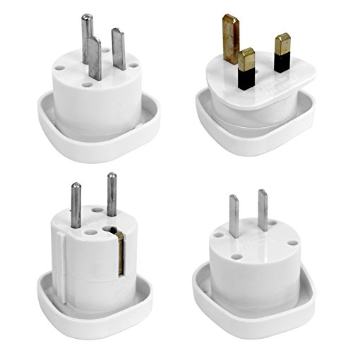 Outbound Travel Adapter Set voor meer dan 150 landen 4-delig incl. Tas Travel Blue