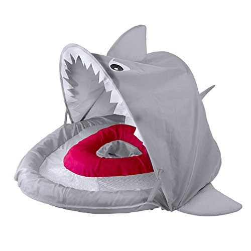 SwimSchool Sparky-The-Shark Fabric Baby Pool Float, Splash & Play...