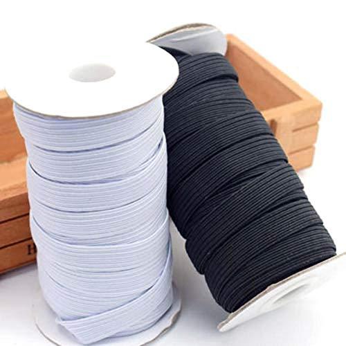 nobrand 5 m / 10 m Elastico di Alta qualità Accessori per Cucire Tessuto Piatto Nastro Elastico Underware Pigiami Cravatte Larghezza Trim 3mm ~ 14mm