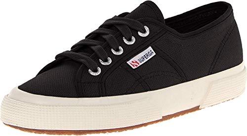 Superga Superga Unisex-Erwachsene 2750 Cotu Classic Sneaker Low-Top, Schwarz (Black S), 44 EU