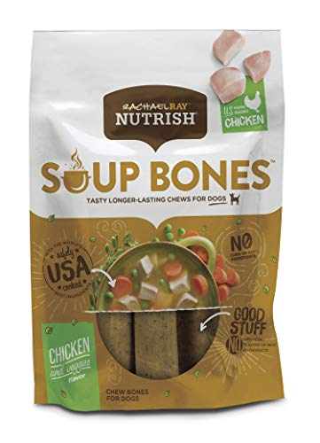 Rachael Ray Nutrish Soup Bones Dog Treats, Chicken & Veggies Flavor, 11 Bones