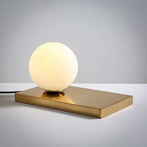 Lampe de bureau sphérique miniature nordique en verre créatif, chambre à coucher, mode de nuit, lumière chaude et nocturne romantique LED E14 abat-jour blanc