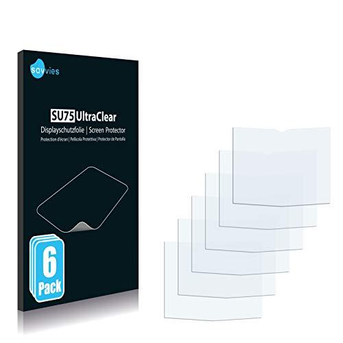 Savvies 6X Schutzfolie kompatibel mit Vertu Constellation Quest Bildschirmschutz-Folie Ultra-transparent
