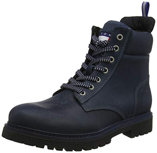 Tommy Hilfiger Herren TOMMY JEANS OUTDOOR SUED BOOT Klassische Stiefel, Blau(Ink Dark Blau 006), 44 EU