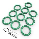 Totally Seals® 6 mm x 3 mm (12 mm OD) Green FKM (Viton™) juntas tóricas métricas, dureza de 75 A, paquete de 10