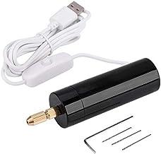 OVBBESS Taladro de mano eléctrico 5 V mano mano mano agujero exquisito eléctrico durable taladro USB plástico vio 3 unids taladros