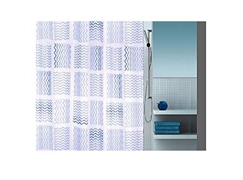 Kleine Wolke Maggy Blau Duschvorhang 120x200cm. Vinyl