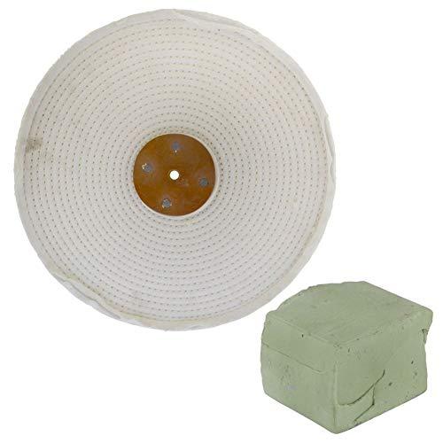 Poliermop/Poliermopp mit Mischung, 30,5 x 5,1 cm, 4-reihig, 250 g, Weiß