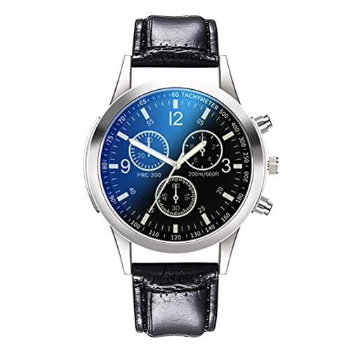 Urisgo Reloj de cuarzo para hombre, estilo empresarial, retro, informal, esfera romana, reloj de pulsera para hombre
